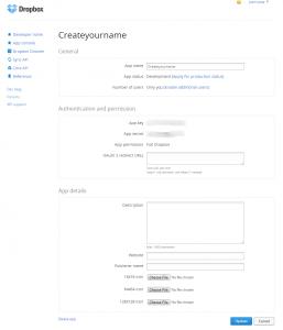Dropbox file upload using phpapi