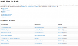 Amazon S3 file Upload using php api
