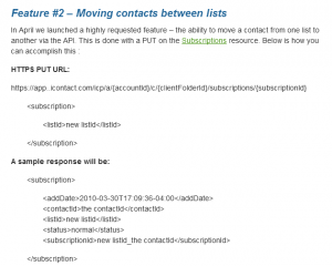 icontact api 2.2 move subscription to another list