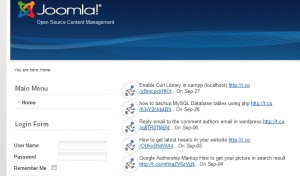 latest tweets module for joomla