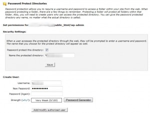 Password Protected Directories Using Cpanel