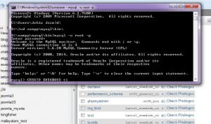 Import mysql DB using Command line