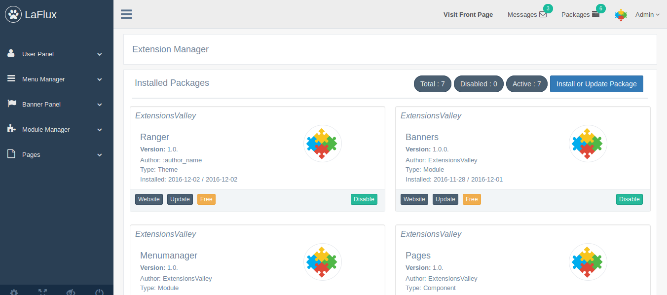 Laravel Admin Template with ACL support - | WalksWithMe