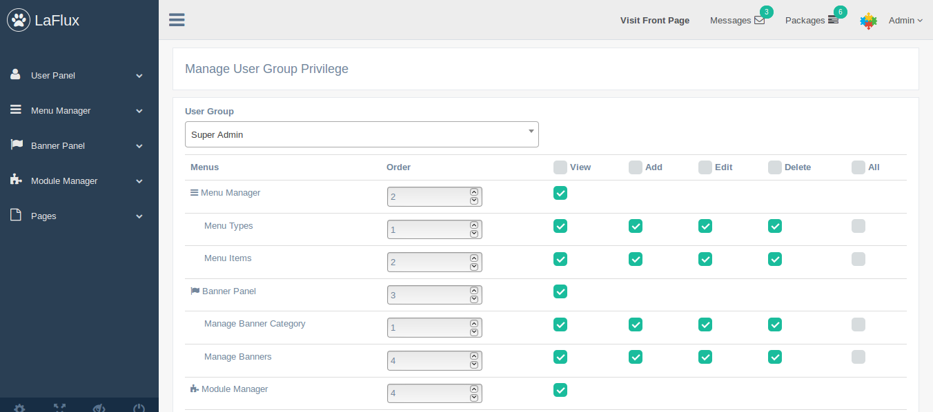 Admin_manage - Laravel Admin Template Acl Manager