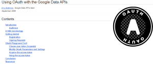 Google Oauth APi Playground