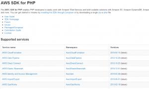 Amazon S3 file Upload using php api