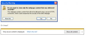 SSL insecure content warning on browsers