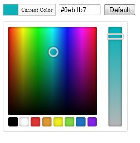 Color picker plugin using jQuery